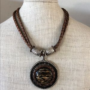 Chico's braided necklace with medallion